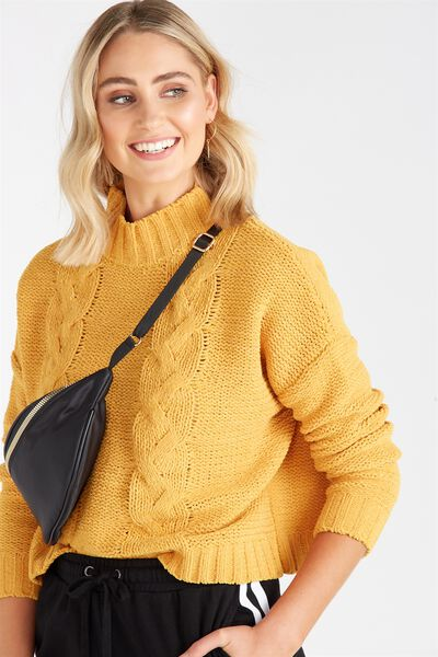 Chloe Cable Knit, MELLOW YELLOW