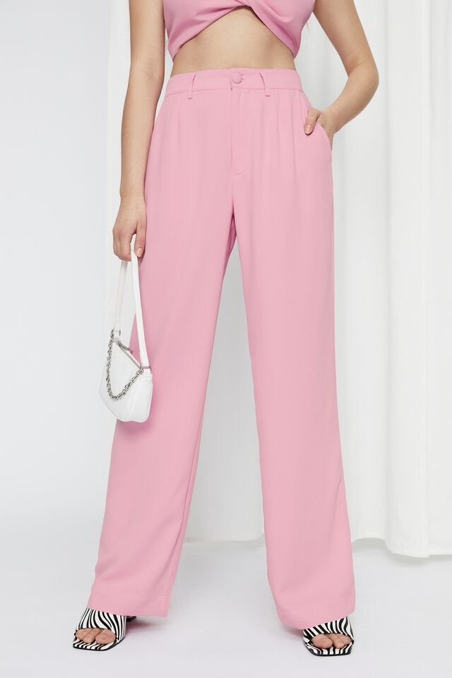 Britney Mid Rise Tailored Pant, MAGIC PINK