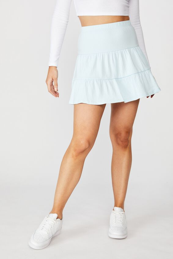 Selena Tiered Skirt, FRESH PALE BLUE