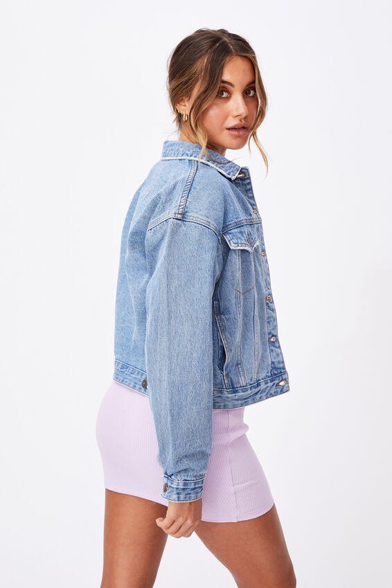 80S Denim Jacket, CLASSIC BLUE WASH