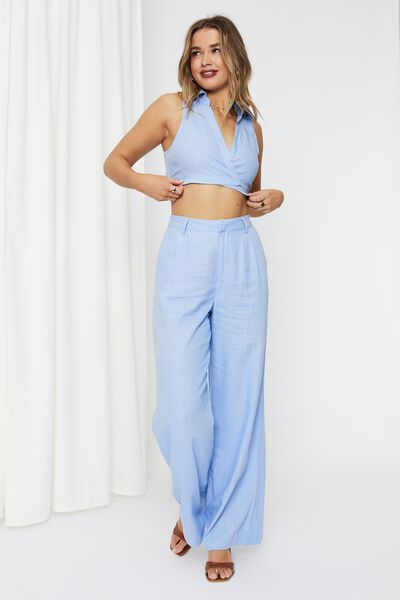 Kendall Tie Up Shirt, LOTUS BLUE