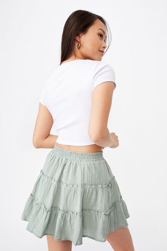 Annie Tiered Skirt, PALE JADE