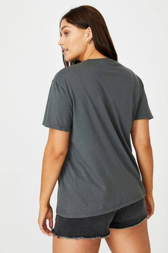 Lola Printed Longline T Shirt, WASHED GRANITE GREY GRAND CANYON EAGLE