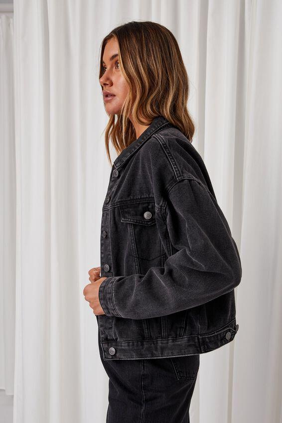 80S Denim Jacket, VINTAGE BLACK CLEAN