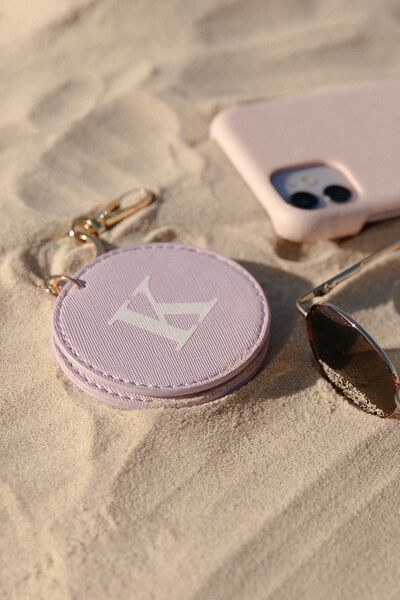 Personalised Key Ring With Mirror, LILAC TEXTURE