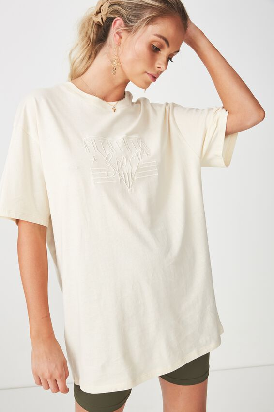The Bike Short Oversized Tee, CREAM PUFF/SPORT