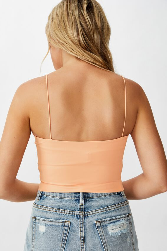 Ivanah High Neck Crop, PEACH NECTAR