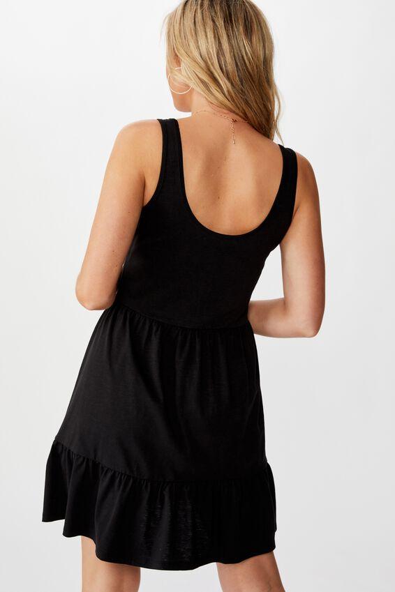 Sunny Tank Dress, BLACK
