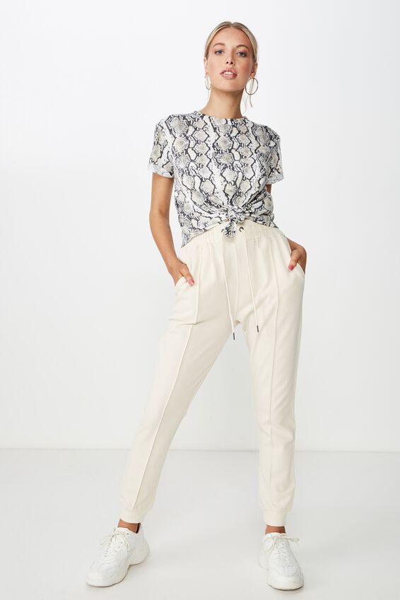Laura Knotted Tee, HEATHER PYTHON