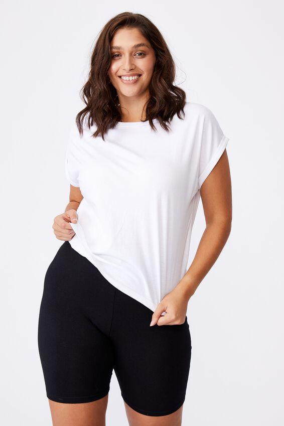 Kaya Crew Neck T-Shirt, WHITE