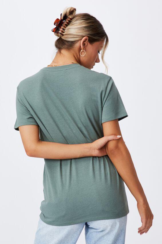 Lola Printed Longline T Shirt, THYME GREEN/TIGER FACE