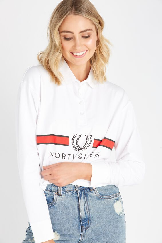 Long Sleeve Collared Rugby Top | Tuggl