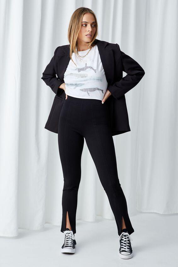 Tamara Printed Crop T Shirt, WHITE/WHALES WORLD