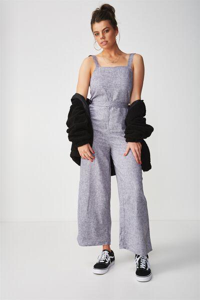 Charlie Linen Jumpsuit, GREY