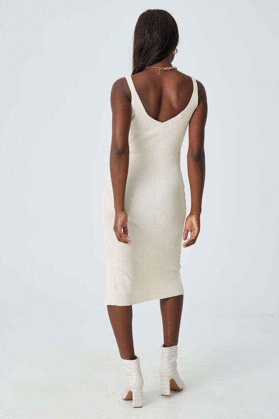 Ivy Knit Midi Dress, SANDSTONE