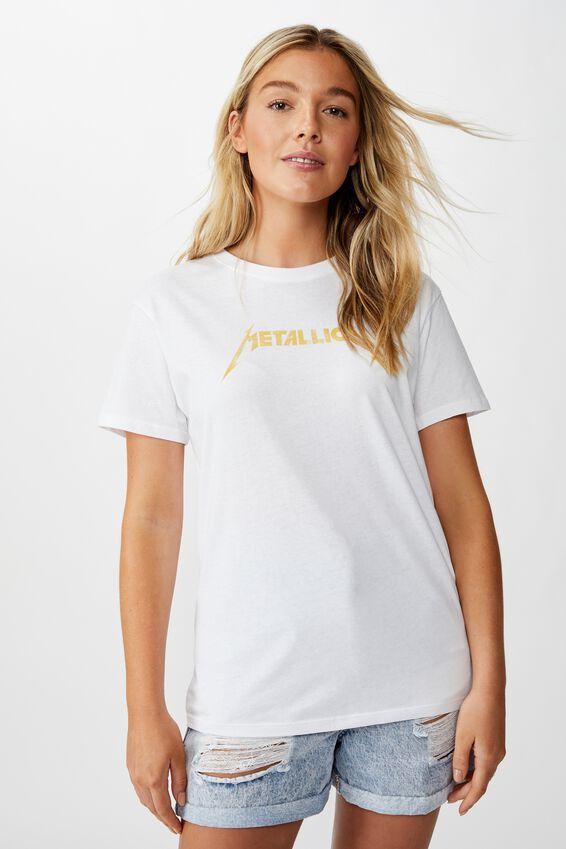 The Kendall Graphic Tee, WHITE/METALLICA SUN