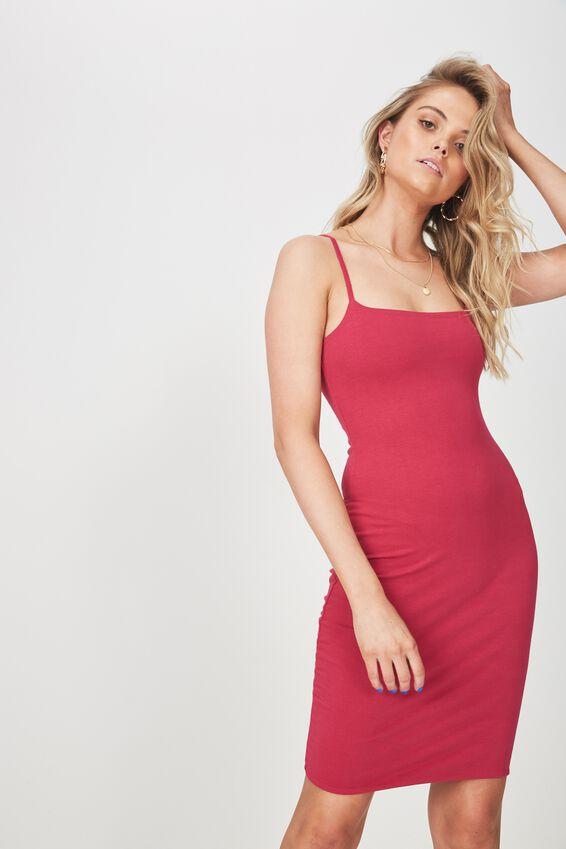 Square Neck Mini Dress | Tuggl