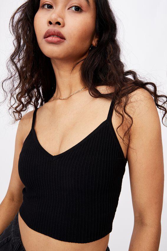 Natalia V Neck Co Ord, BLACK