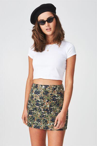 Cargo Mini Skirt, ABSTRACT CAMO