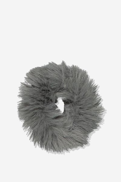 Fluffy Scrunchie, GREY