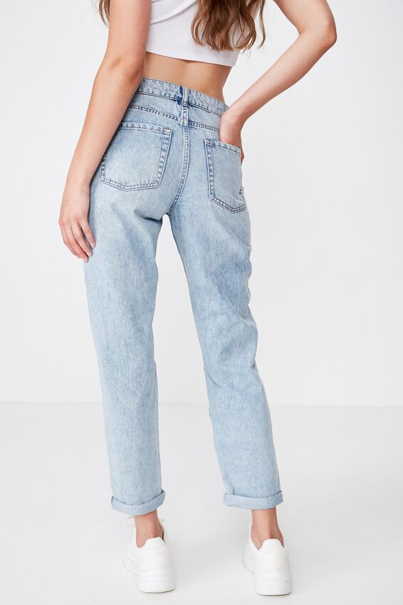 The Mom Ripped Jean, AUTHENTIC BLUE FADE