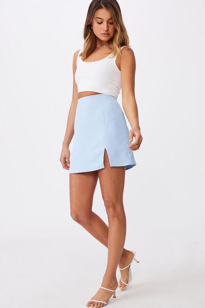 Natasha Waffle Skirt, BLUEBELL