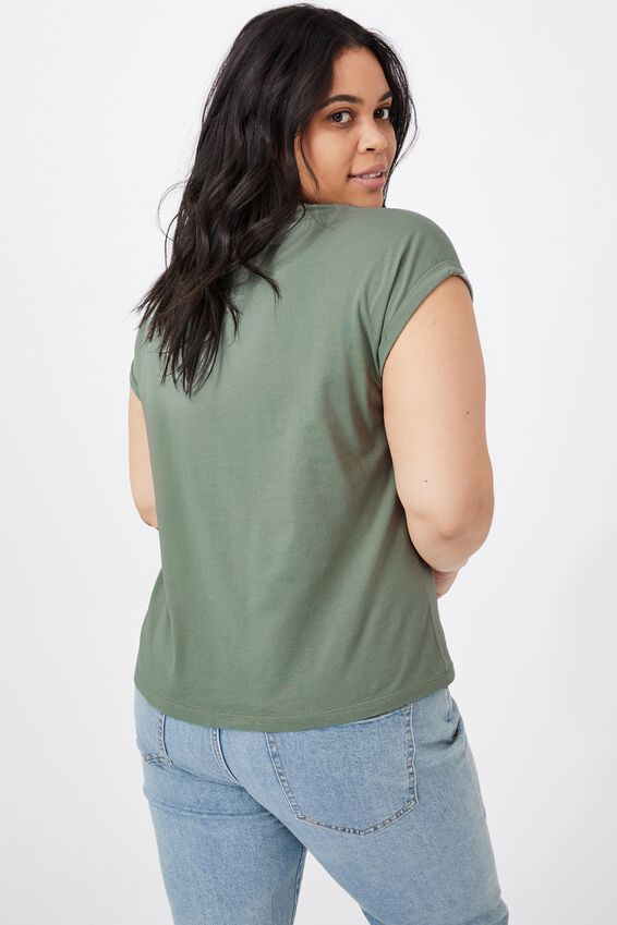 Kaya Crew Neck T-Shirt, DUST KHAKI