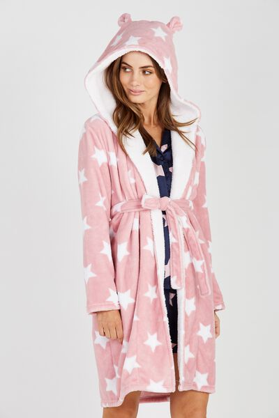 Dressing Gown, PINK STARS
