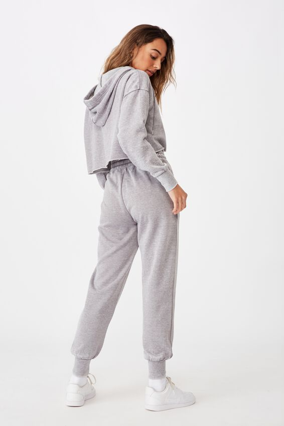 Paper Bag Waist Trackpant, WASHED CEMENT GREY