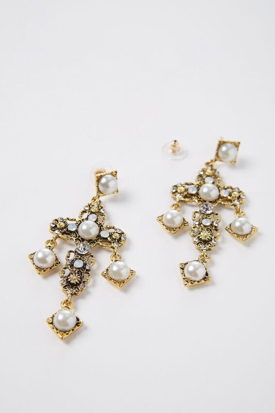 Pearl Cross Earrings at Supre in Broadmeadows, VIC   Tuggl
