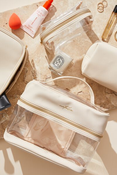 Personalised Clear Multi Case, SANDSTONE TEXTURE