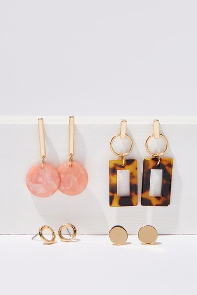 Alexa Mini Earring Pack, MIXED