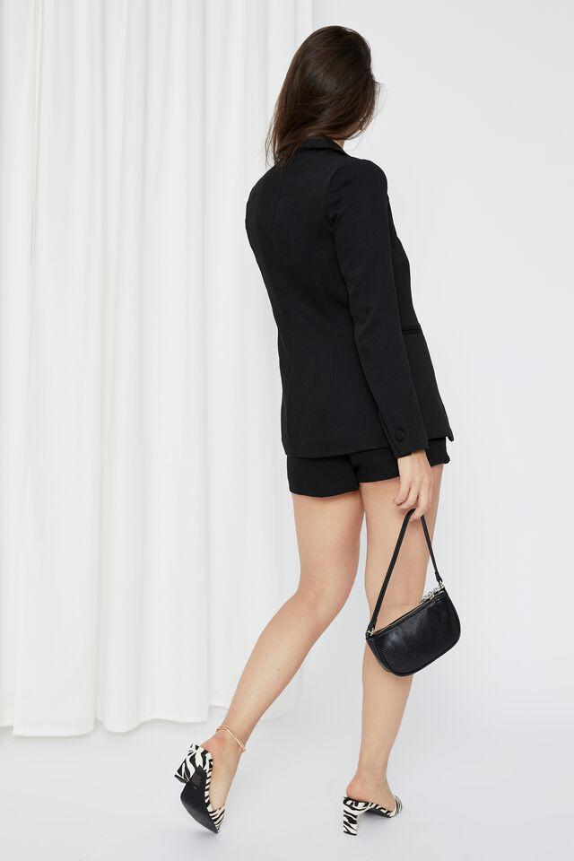 Britney Tailored Blazer, BLACK