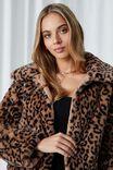Florence Faux Fur Crop Jacket, LEOPARD