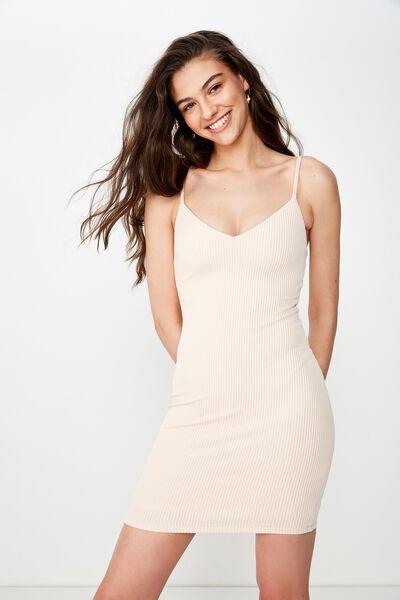 Cameron Rib Mini Dress, PINK FLOSS