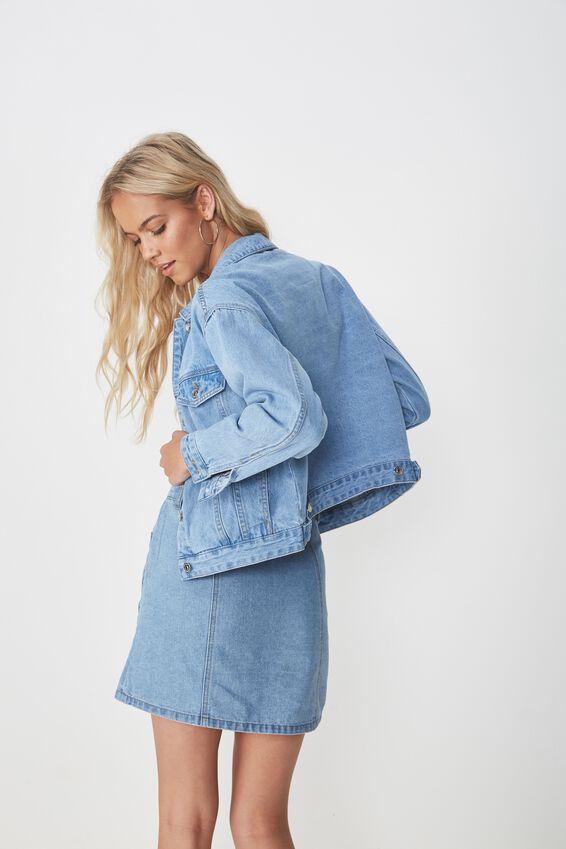 80S Denim Jacket, MID BLUE