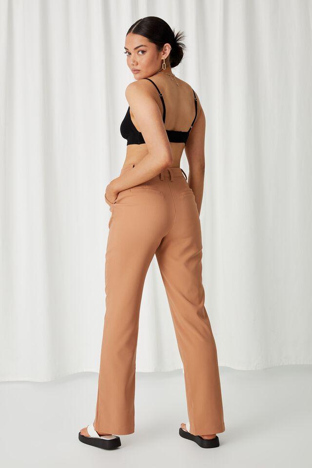 Angelina Tri Knit Bralette Top, BLACK