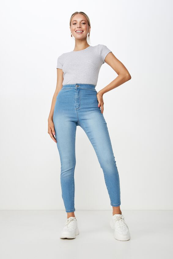 Short Super Skinny Sky High Jean, LUNAR BLUE