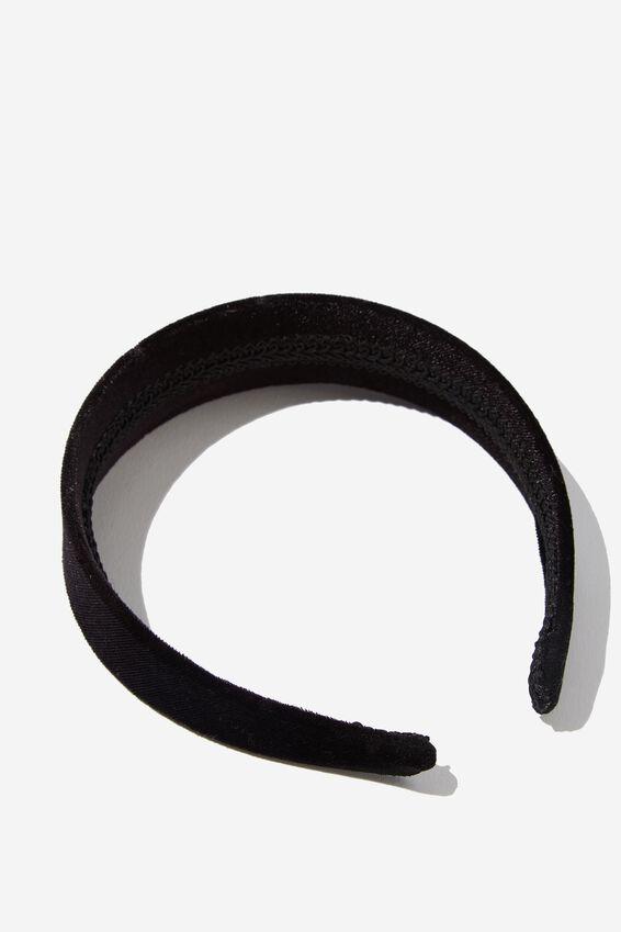 Blair Velvet Headband, BLACK