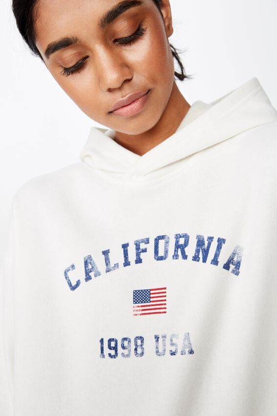 Katy Slouch Sweat, WINTER WHITE/CALIFORNIA