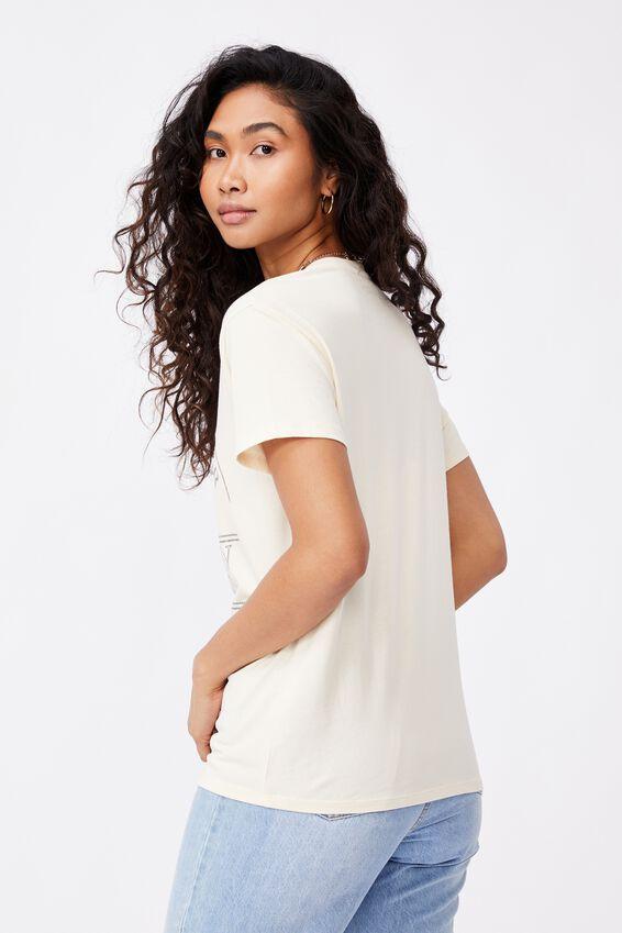 Lola Printed Longline T Shirt, SOFT STONE/DESERT RIDER