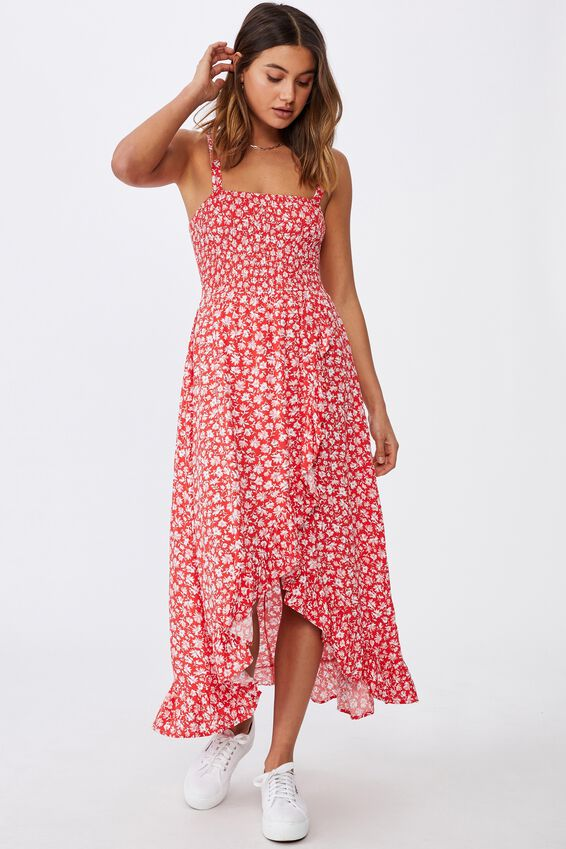 Allegra Maxi Wrap Dress, HALLEY FLORAL RED