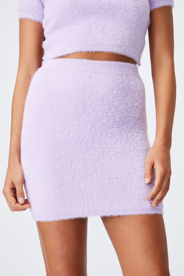 Melissa Fluffy Skirt Co Ord, SWEET LILAC