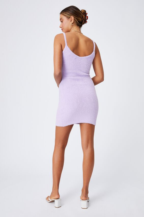 Melissa Fluffy Mini Dress, SWEET LILAC