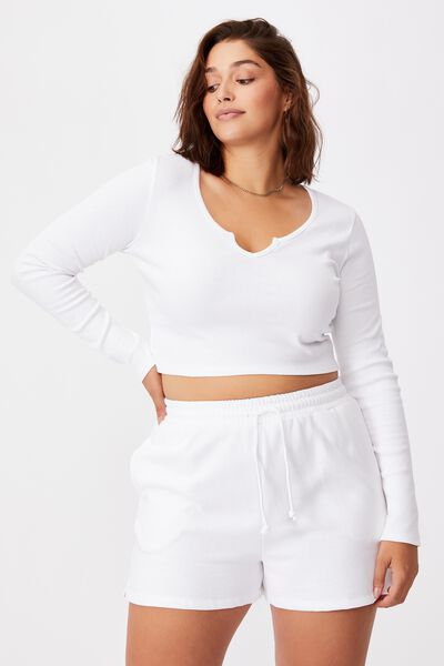 Shai Notch Front Top, WHITE