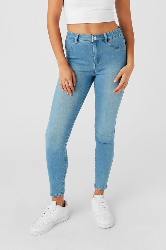 Short Leg Super Skinny Jean, WAVE BLUE