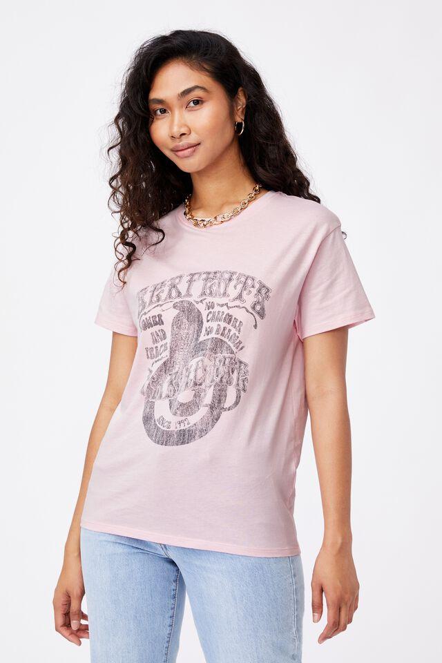 Lola Printed Longline T Shirt, PINK QUARTZ/SERPENTS PARADISE