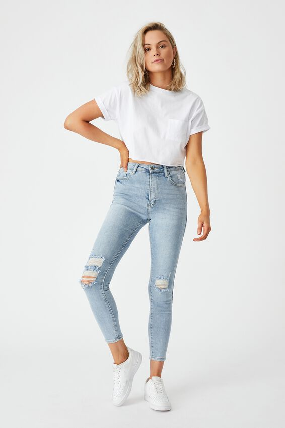The Skinny Premium Ripped Jean, VINTAGE FADE RIPPED