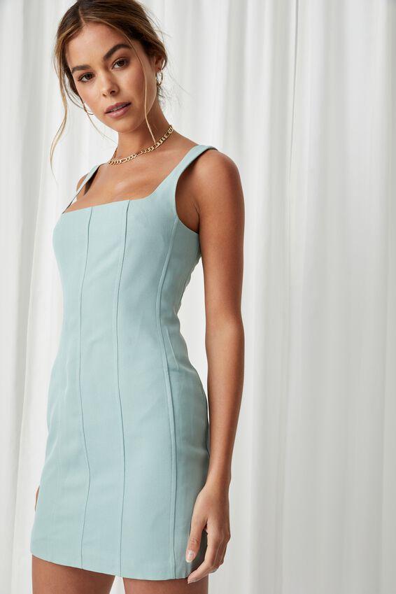 Phoebe Mini Dress, SOFT MOSS