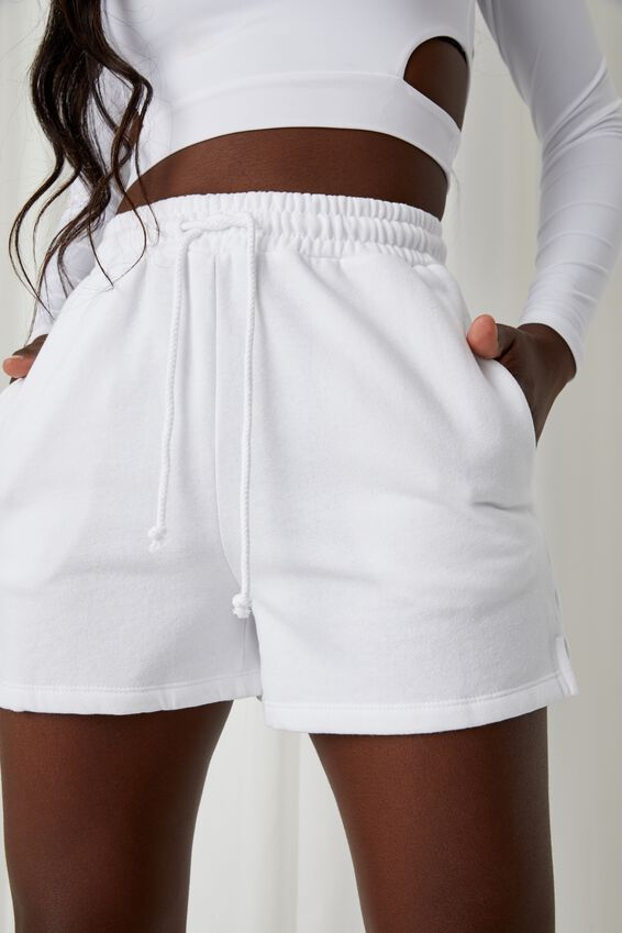 Hayley Sweat Short, WHITE
